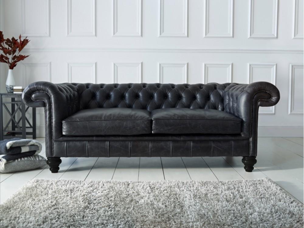 Popular Photo of Chesterfield Black Sofas