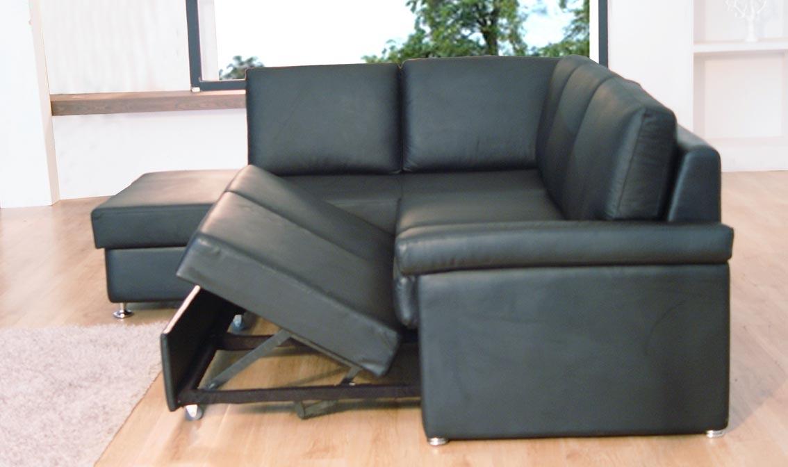 Black Leather Sectional Sofa Sleeper Hereo Sofa In Black Leather Sectional Sleeper Sofas (#5 of 15)