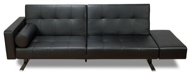 Black Leather Sleeper Sofa 3 Pieces Black Leather Sleeper Futon With Regard To Contemporary Black Leather Sofas (View 12 of 15)