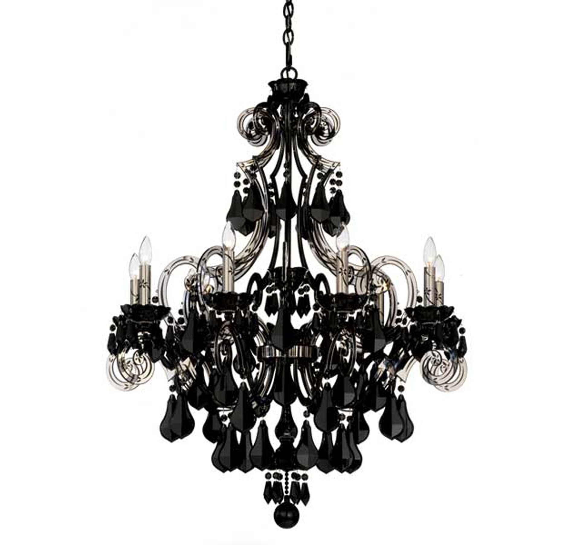 Black Modern Chandelier For Large Black Chandelier (#3 of 12)