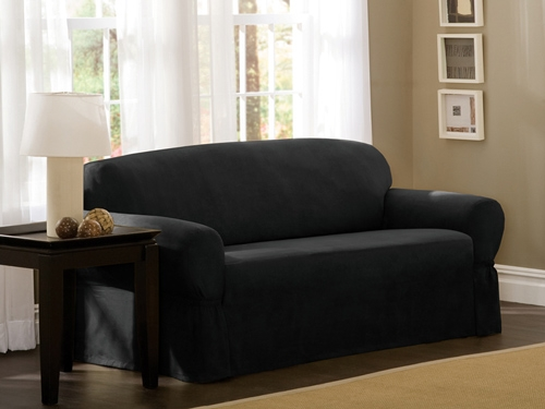 Black Sofa Slipcover Hereo Sofa With Regard To Black Slipcovers For Sofas (#6 of 15)