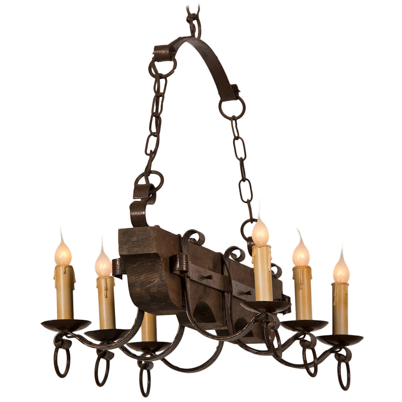 Black Wrought Iron Chandelier Lighting Roselawnlutheran In Black Iron Chandeliers (#6 of 12)