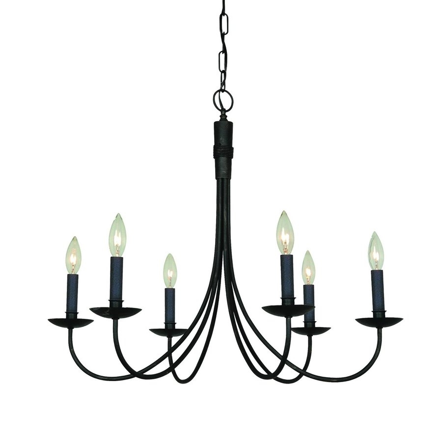 Black Wrought Iron Chandelier Lighting Roselawnlutheran With Regard To Black Iron Chandeliers (#7 of 12)