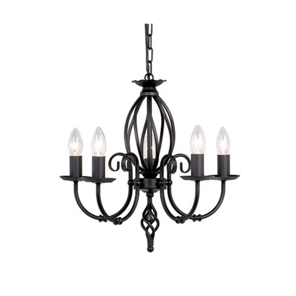 Black Wrought Iron Chandeliers Lightupmyparty In Black Iron Chandeliers (#8 of 12)