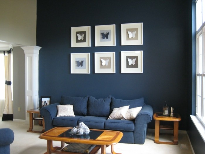 Blue Sofa 50 Interior Design Ideas With Sofa In Blue That Are Regarding Dark Blue Sofas (#9 of 15)