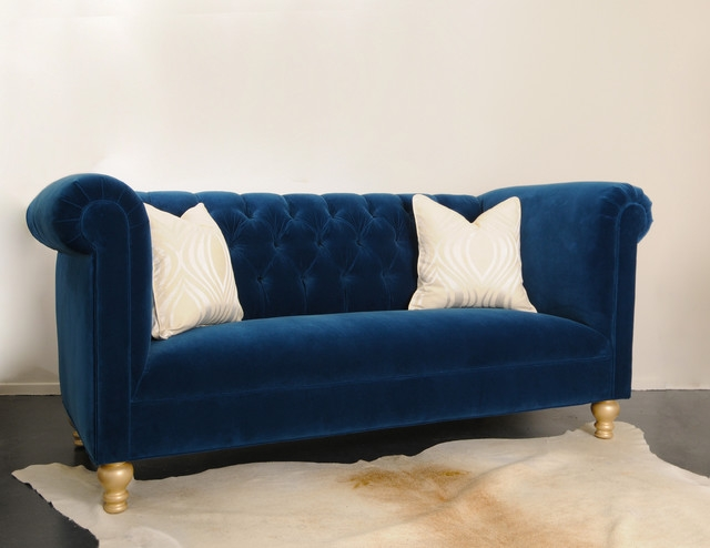 Blue Tufted Sofa With Regard To Blue Tufted Sofas (#6 of 15)