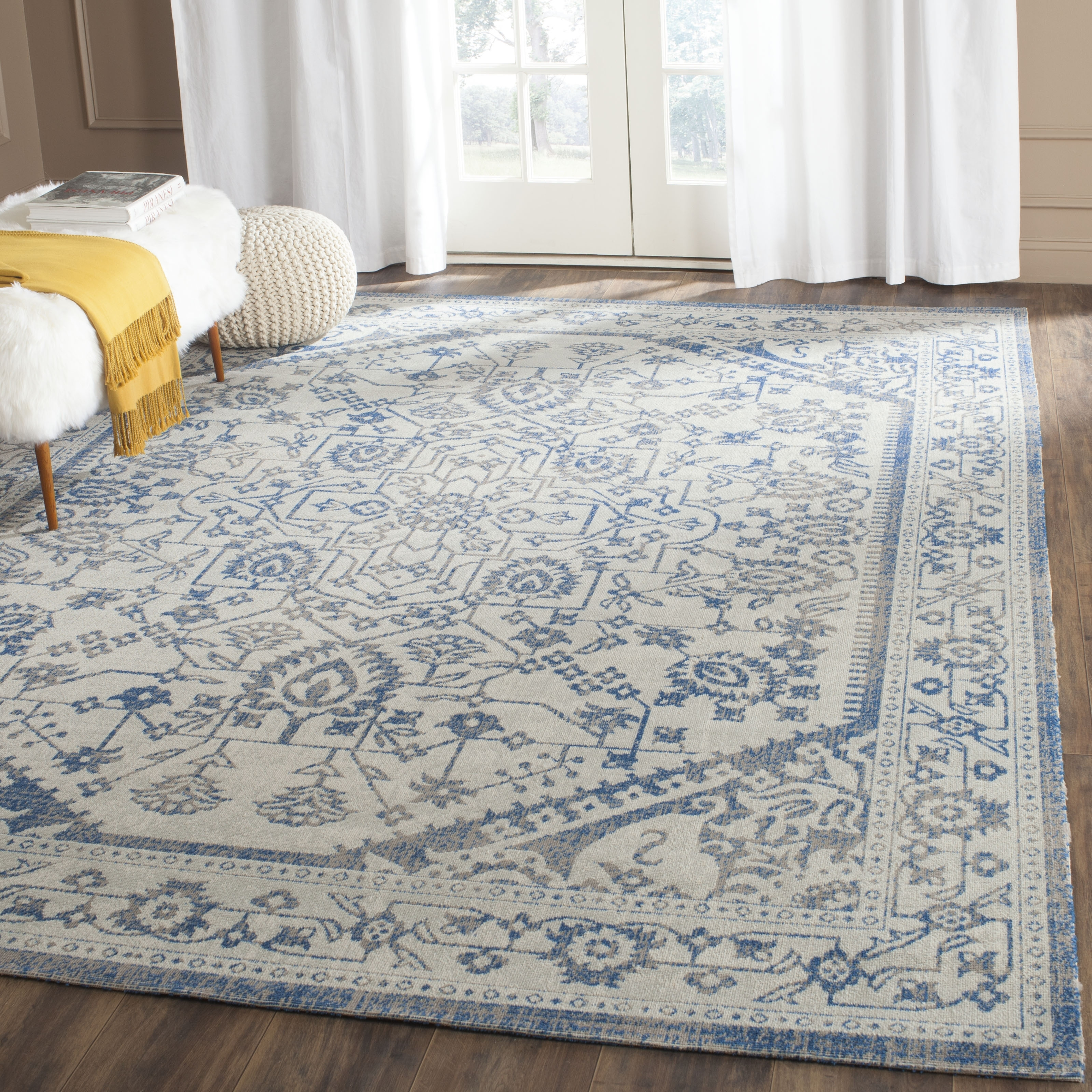 Blue Wool Area Rugs Roselawnlutheran Throughout 10×14 Wool Area Rugs (#8 of 15)