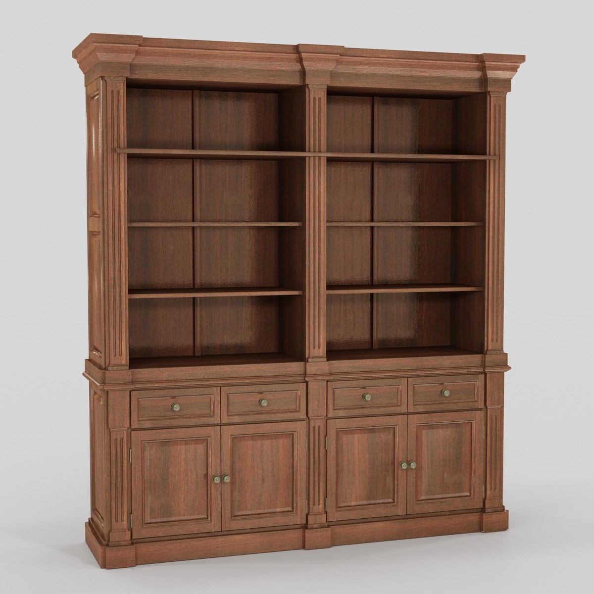 Bookcase 3d Model With Classic Bookcase (View 3 of 15)