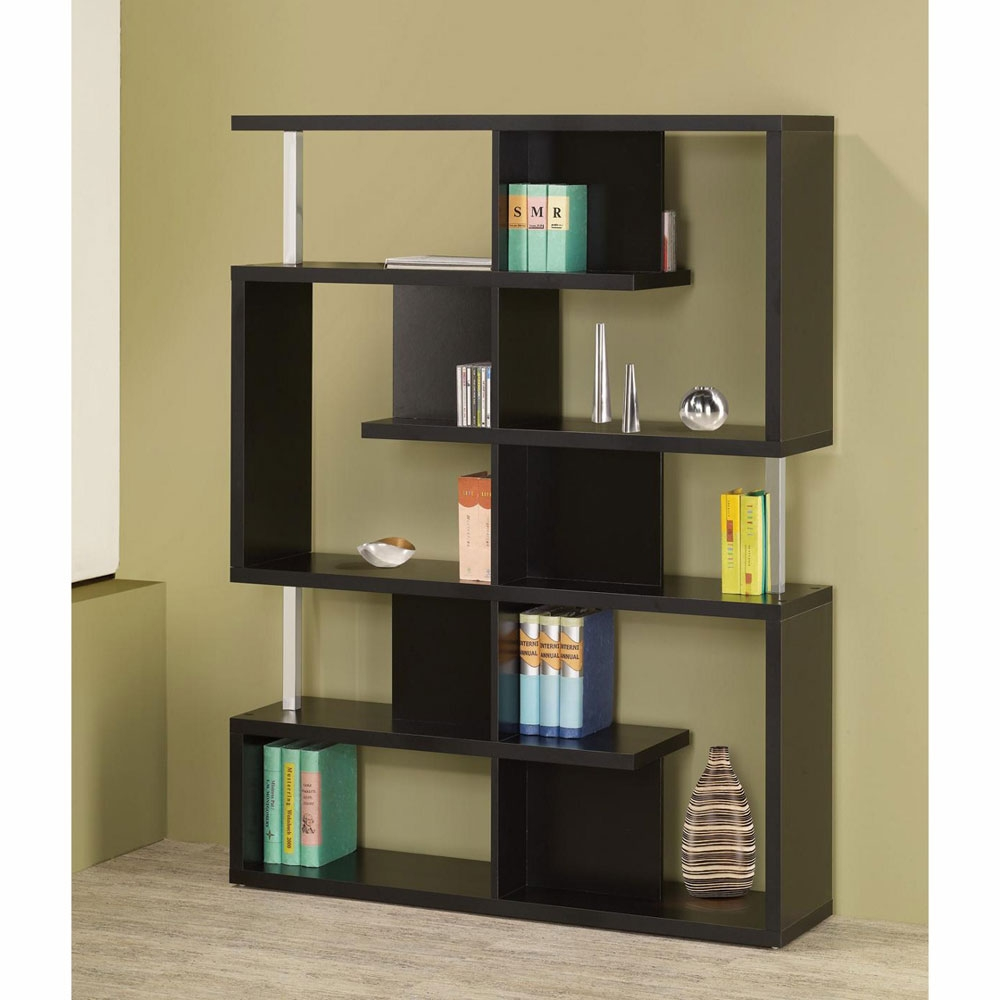 Bookcase Black Within Modern Bookcase (#5 of 15)
