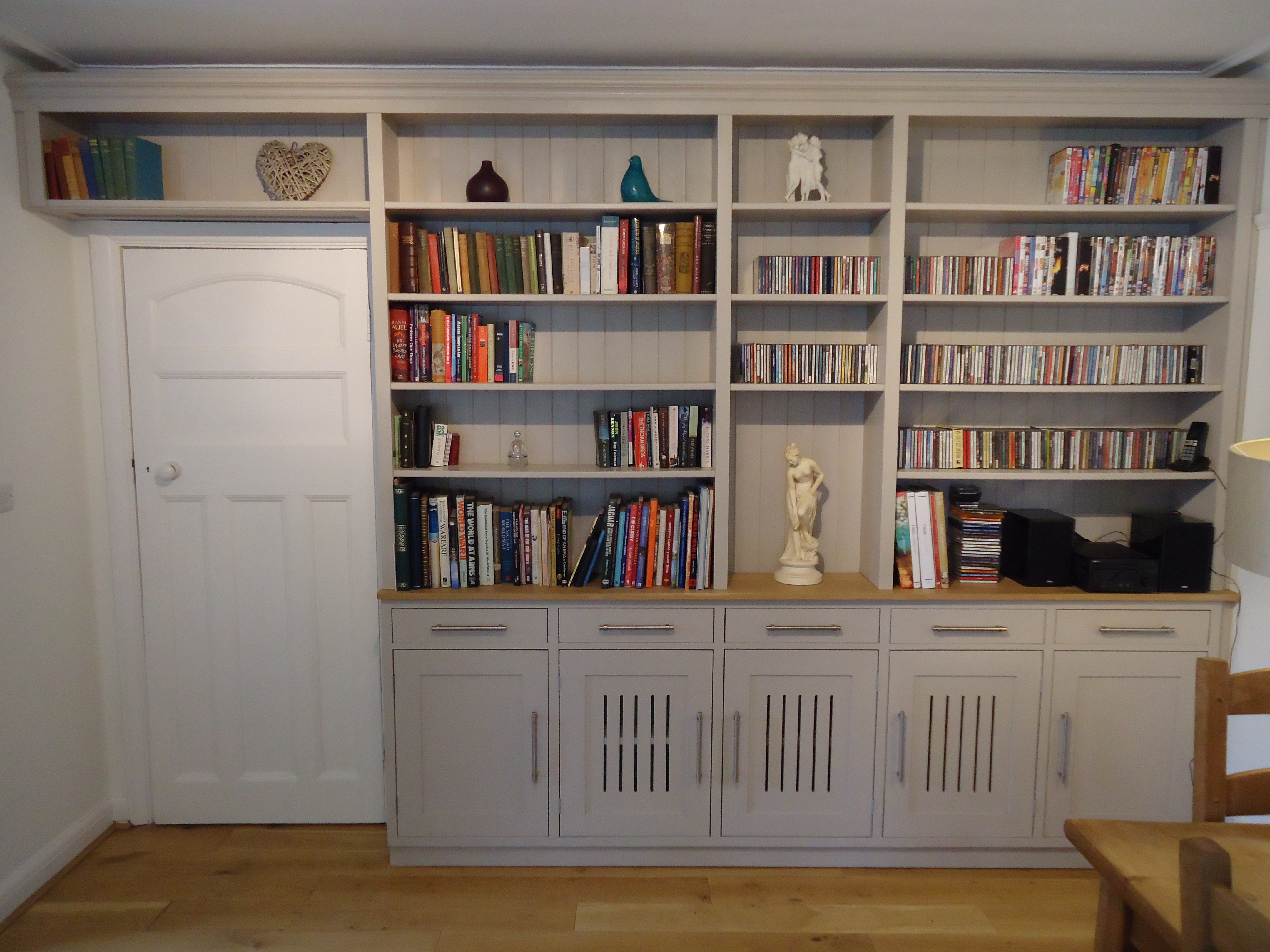 Bookcase Cupboards W Radiator Vents Strawberry Vale Throughout Radiator Bookcase (View 7 of 15)