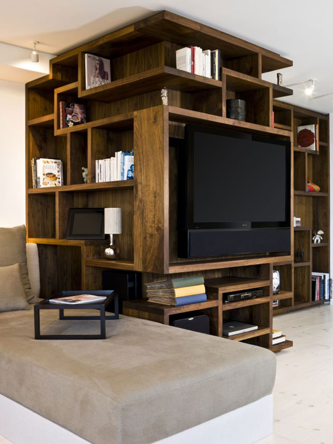 Bookcase Design Ideas There Are Plenty Of Helpful Ideas Pertaining Intended For Bookshelf With Tv Space (View 3 of 15)