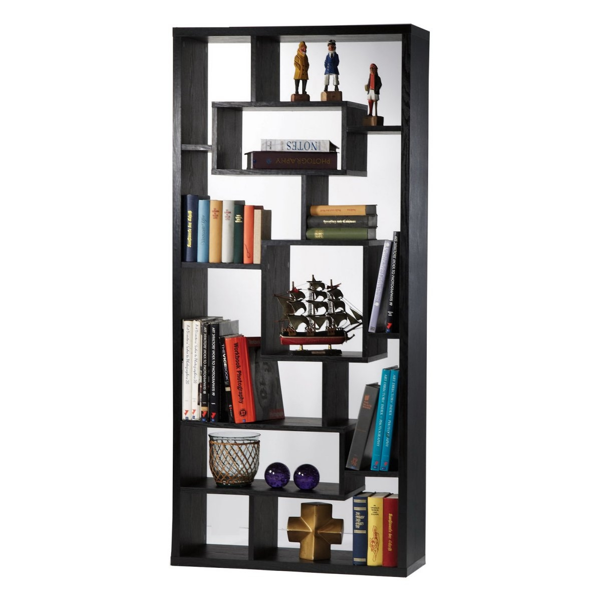 Bookcase Dividers Room Divider Bookcase Reclaimed Wood Look Room Intended For Free Standing Book Shelf (View 2 of 15)