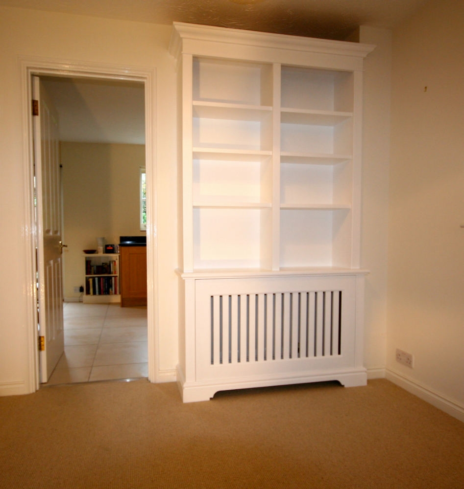 Bookcase Incorporating Radiator Cabinet In Earlsfield The Throughout Radiator Cabinet Bookcase (#2 of 15)