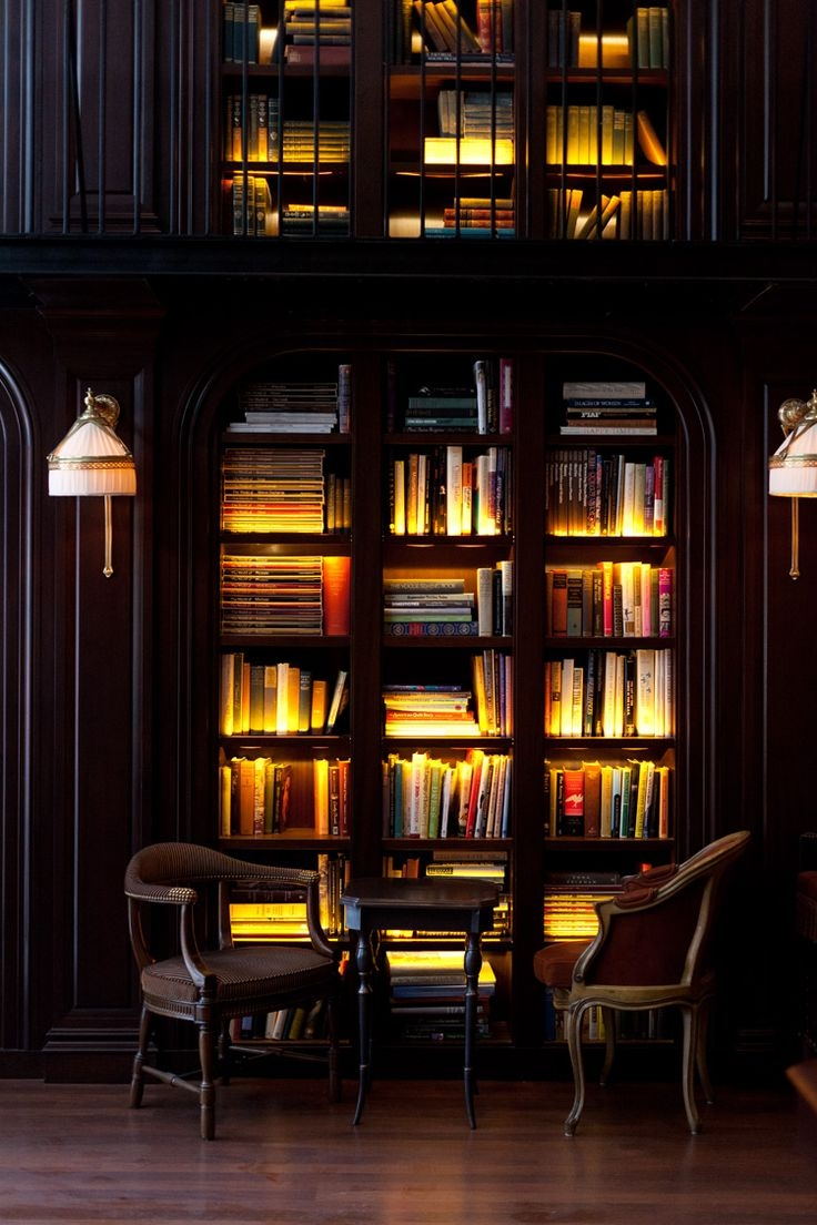 Cool Home Library: 15 Ideas Of Library Bookcase Lighting