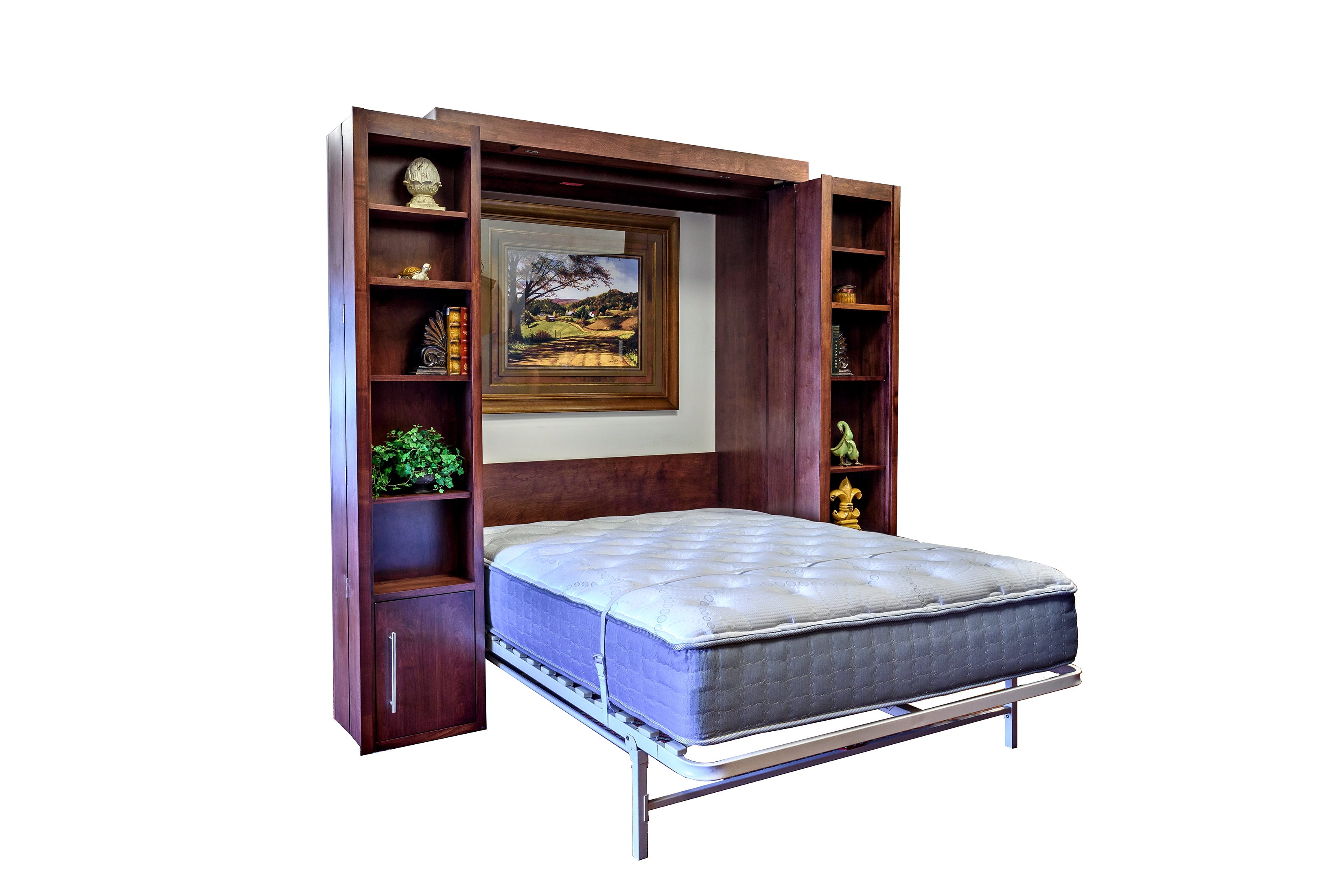 Bookcase Murphy Wall Bed Wilding Wallbeds In Bifold Bookcase (#4 of 15)