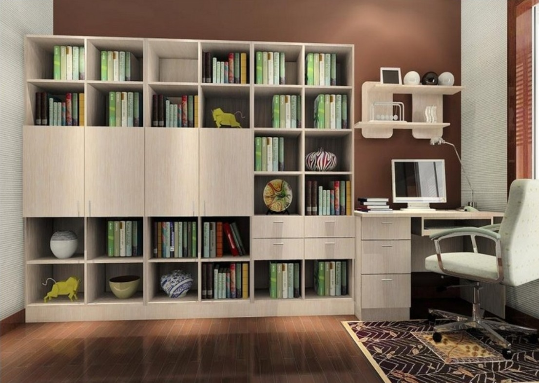 15 inspirations of study bookcase for Study room wall cabinets