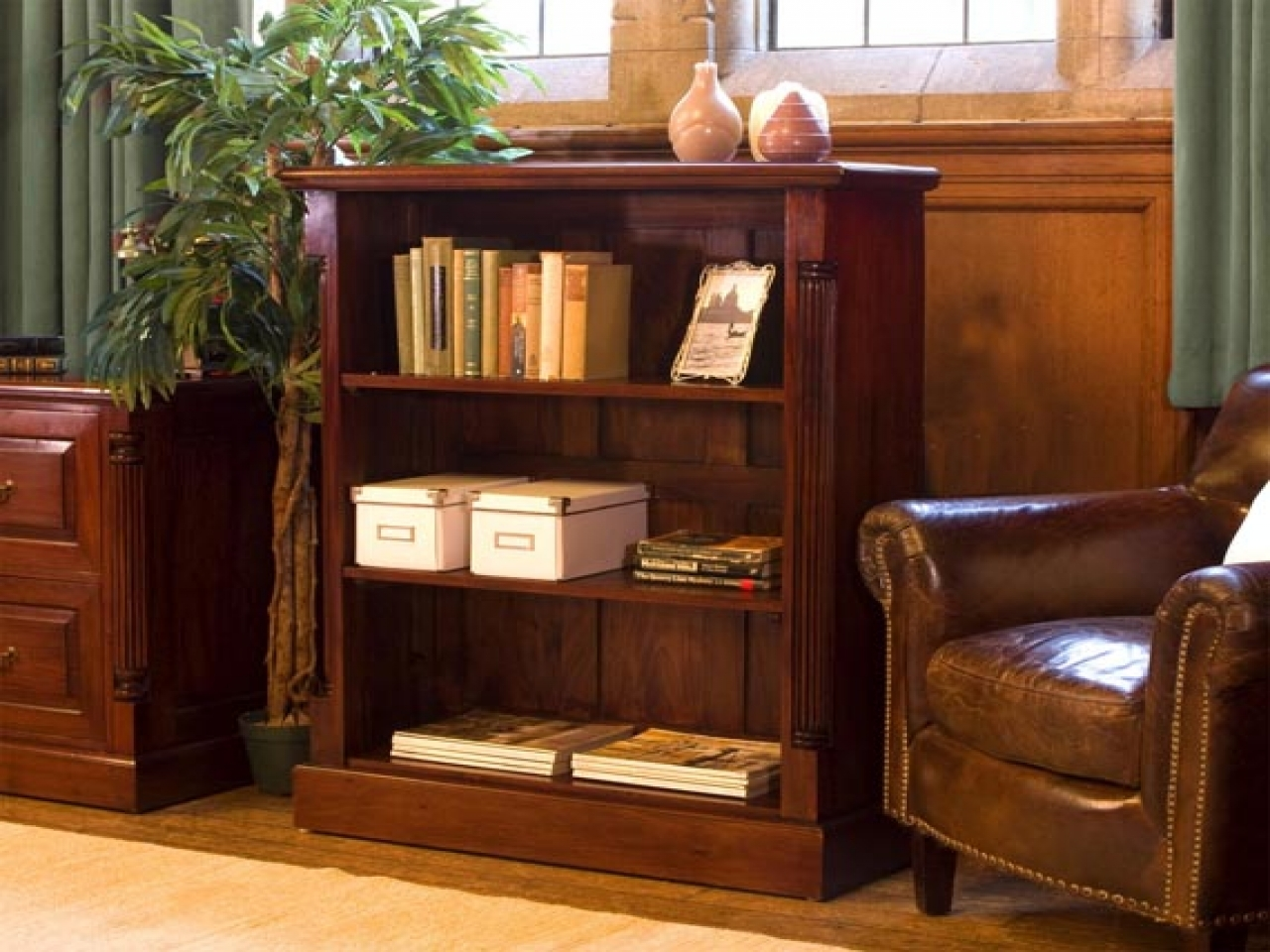 Bookcase Wooden Mahogany Small Bookcase Mahogany Open Bookcase For Small Bookcases (#3 of 15)