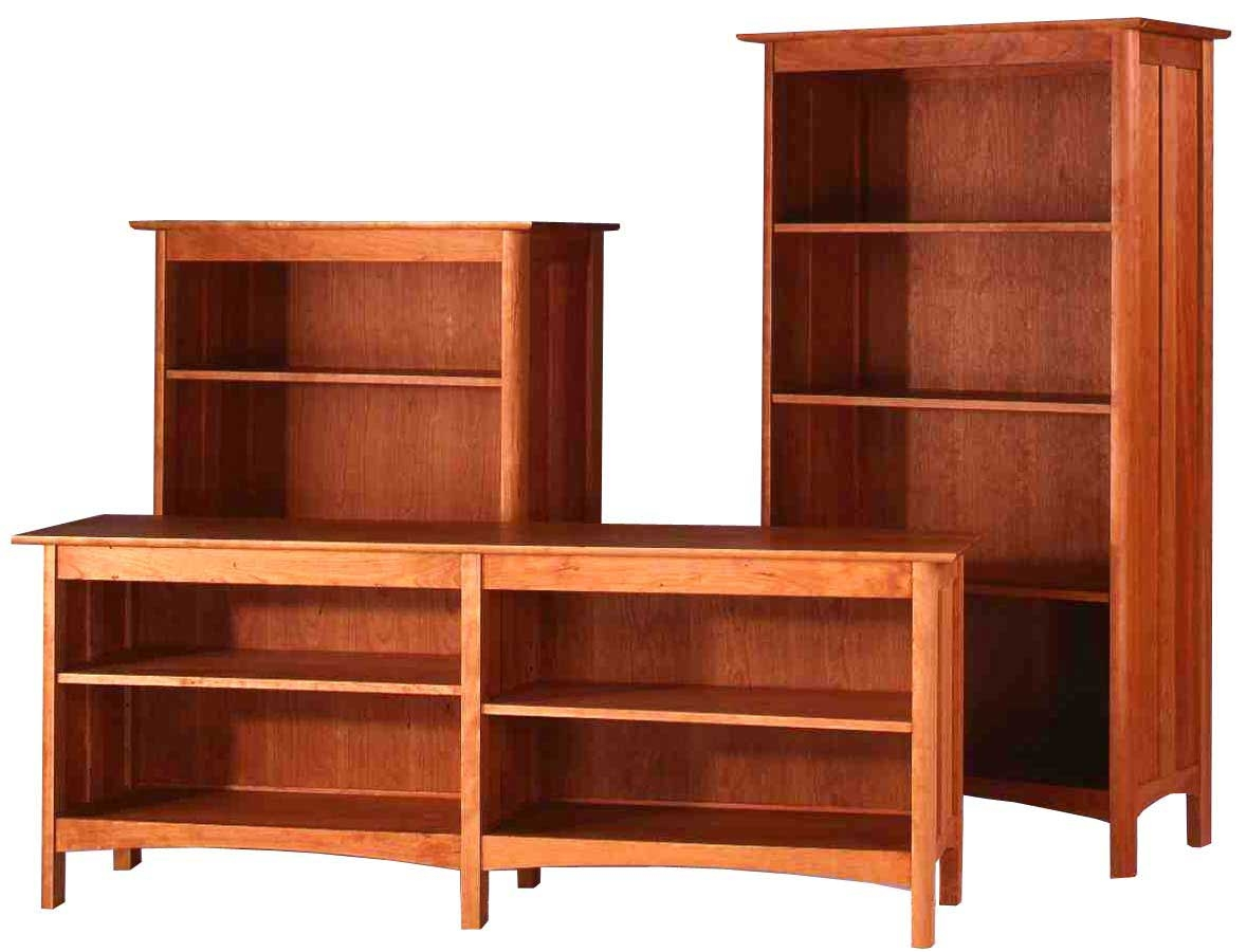 Bookcase Wooden Solid Wood Bookcases Shelves Contemporary Solid Inside Solid Wood Bookcases (#1 of 15)