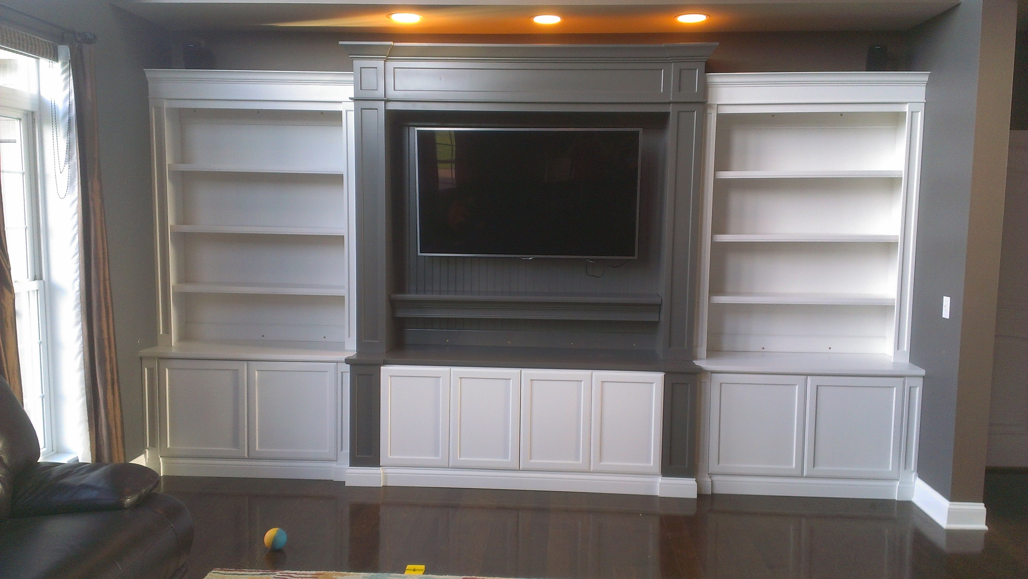 Bookcases C A Custom Woodworking Inc Pertaining To Full Wall Bookcase (View 1 of 15)