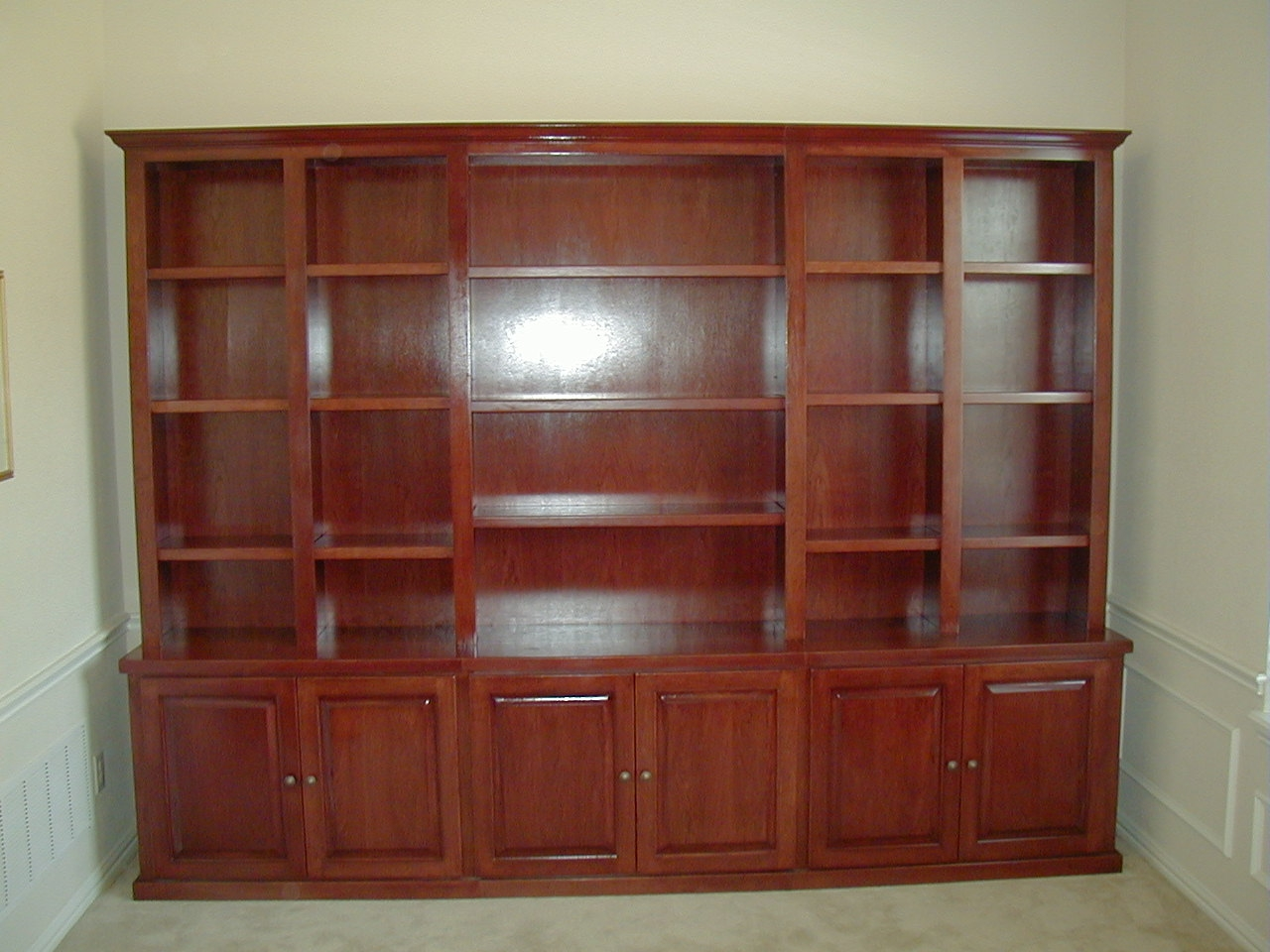 Bookcases Fiorenza Custom Woodworking Throughout Bookcase With Bottom Cabinets 3 Of 15