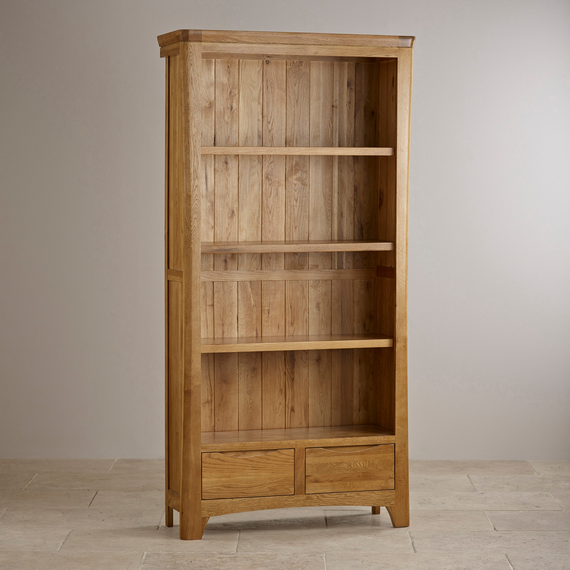 Bookcases Function And Style Oak Furniture Land In Solid Wood Bookcases (View 2 of 15)