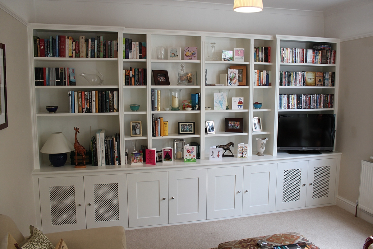Bookcases Made To Measure Tonyswadenalocker Within Fitted Shelving Systems (View 4 of 15)