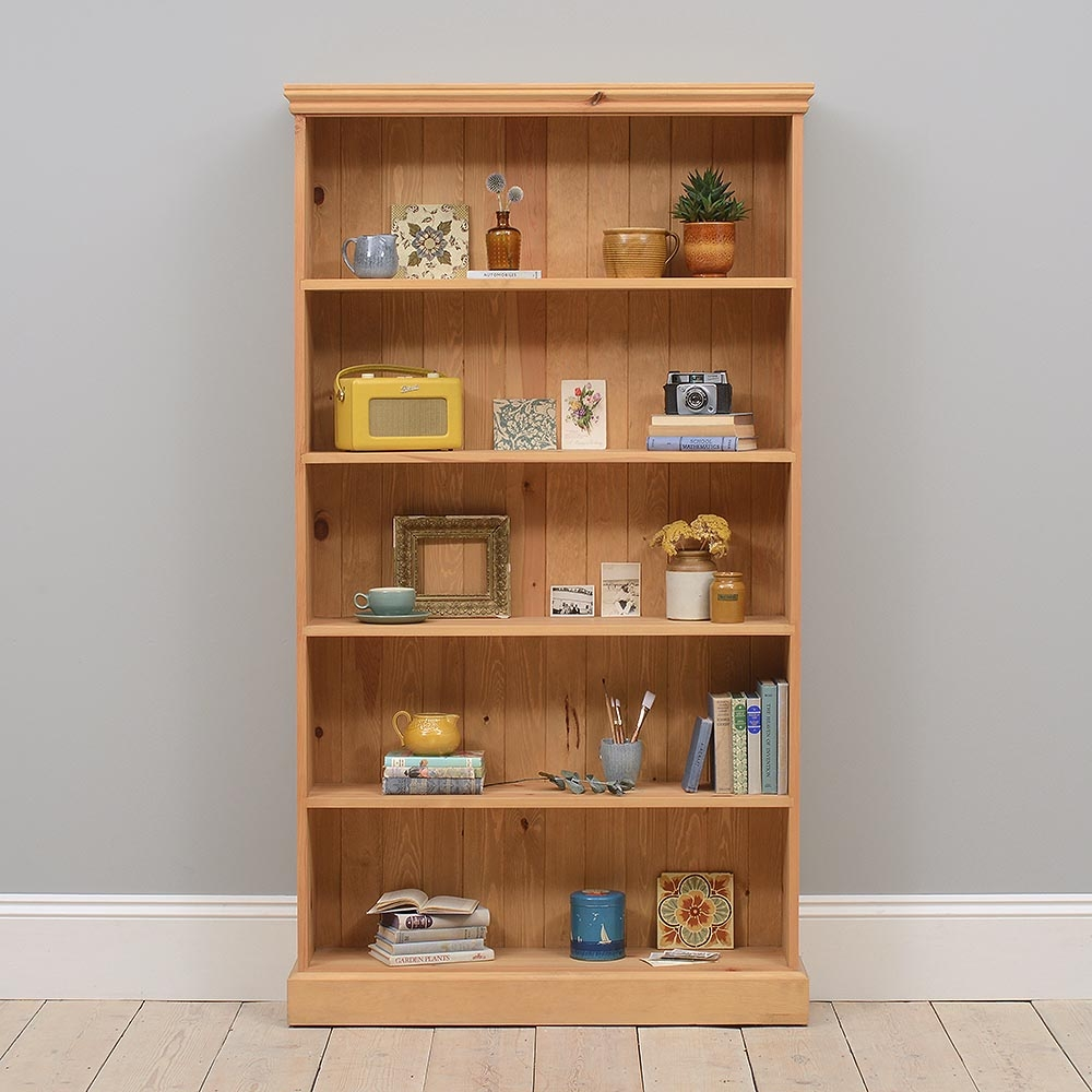 Bookcases Pine Oak And Solid Wood Bookcases Pine Solutions Within Solid Wood Bookcases (#3 of 15)
