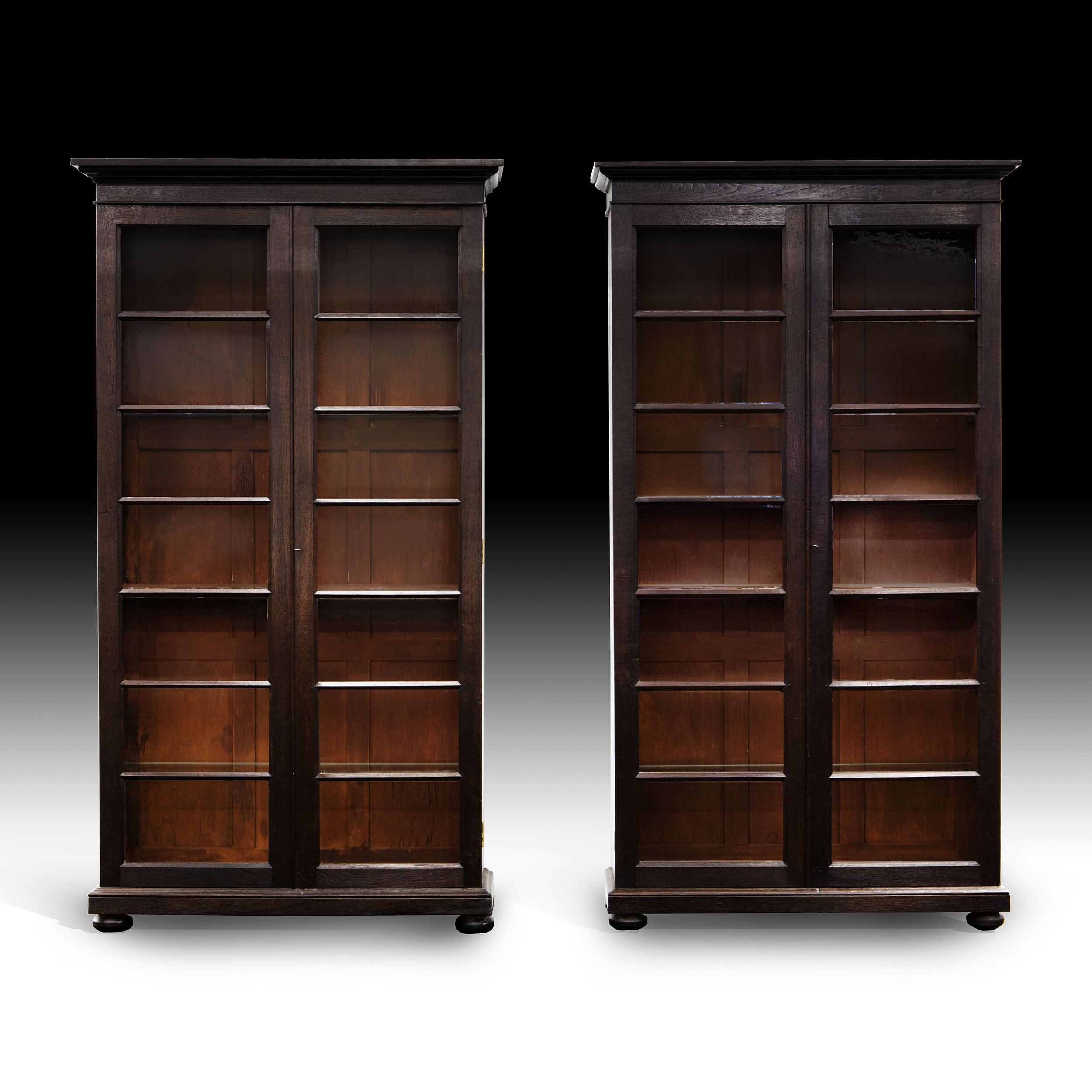 Bookcases With Doors India Indian Furniture Antiques Direct Pertaining To Glazed Bookcases (#4 of 15)