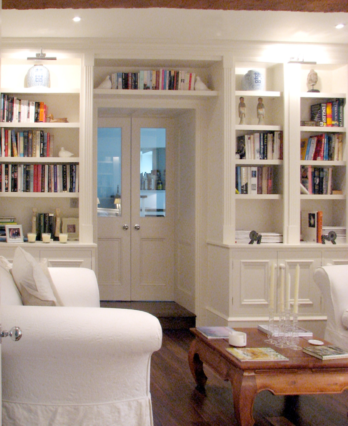 Bookshelves Around Doors Custom Built Bookcase Around Door In Bespoke Libraries (#5 of 15)