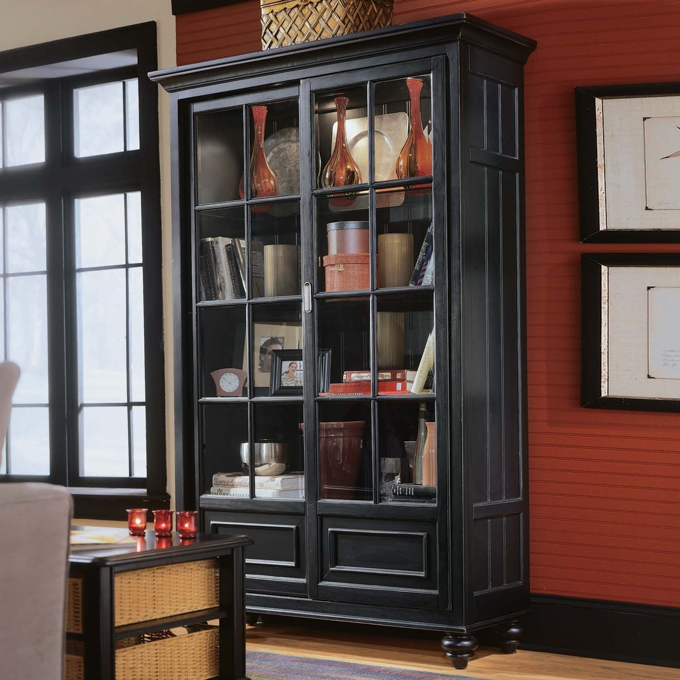 Bookshelves Glass Doors Idi Design Regarding Bookcases With Doors (#7 of 15)