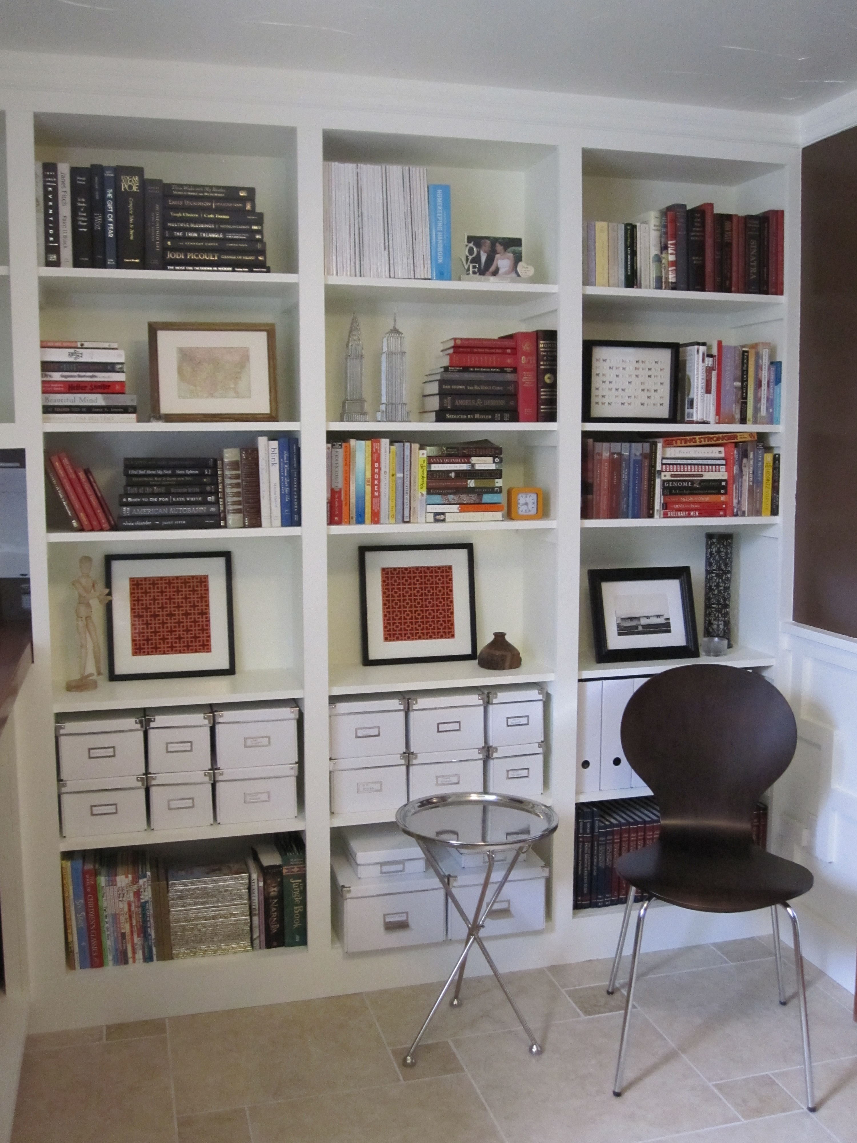 Bookshelves On Either Side Of The Desk With Doors That Cover Throughout Bookcase Cover (View 4 of 15)