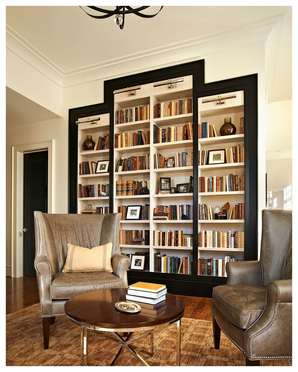 Bookshelves Study At Ncstate Chancellors House Design Lines Ltd With Study Bookshelves (View 2 of 15)
