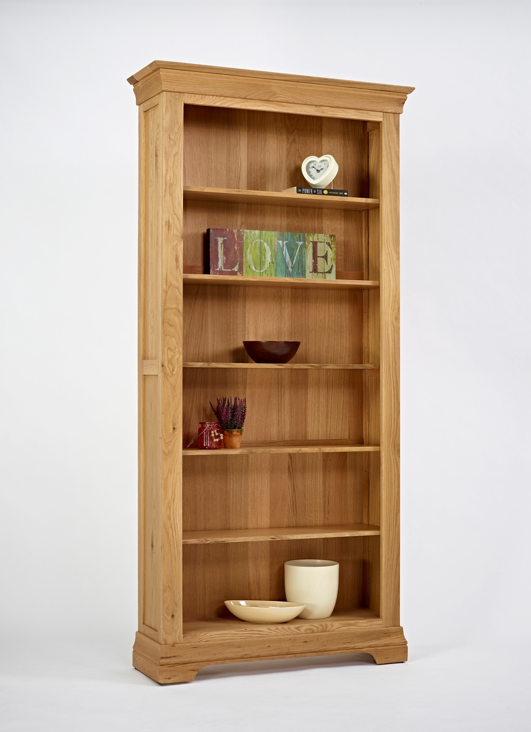 Bordeaux Oak Large Bookcase Oak Furniture Solutions Pertaining To Solid Oak Bookcase (View 12 of 15)