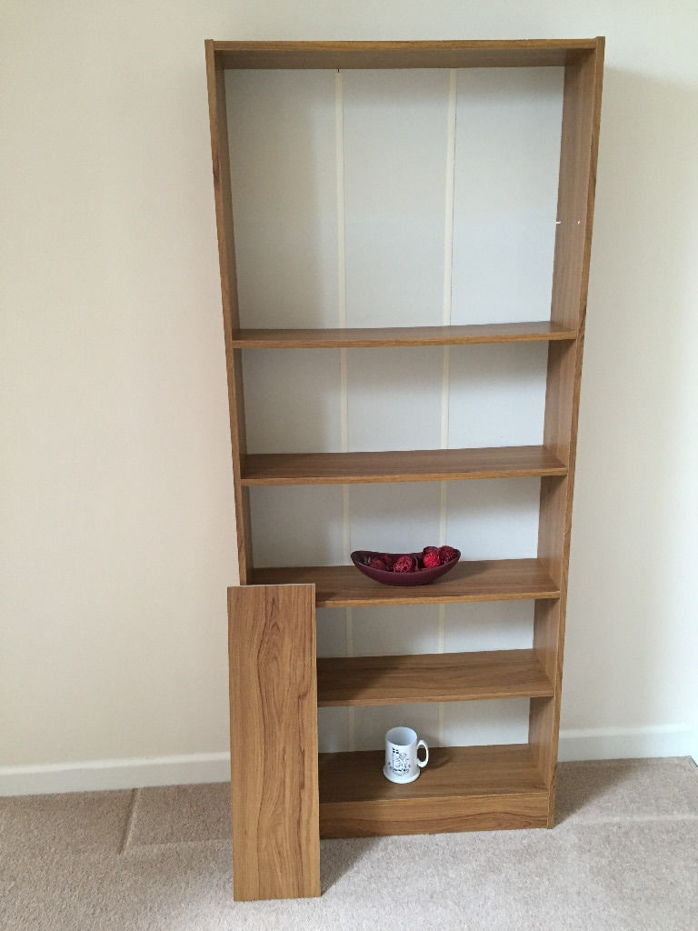 Bq Flat Pack Brown Wood Effect Large Bookcase Shelving Unit Regarding Flat Pack Bookcase (#6 of 15)