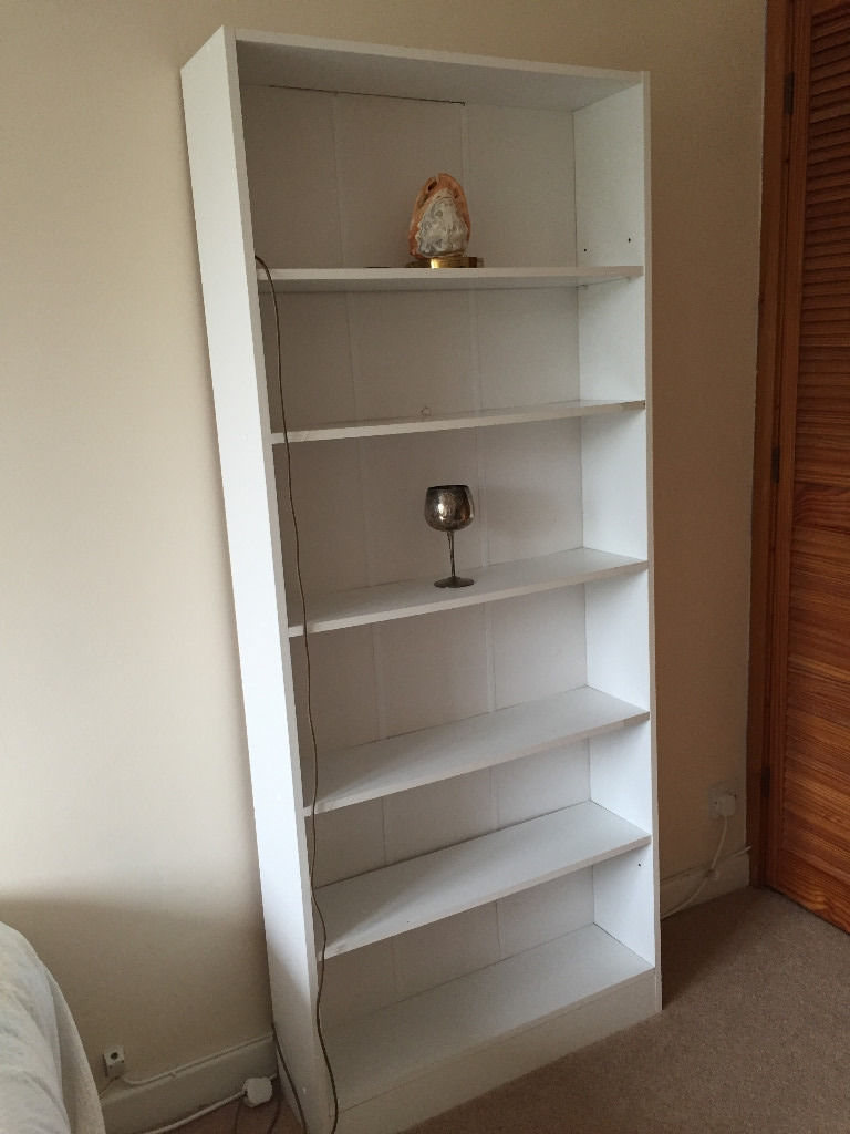 Bq White Flat Pack Large Bookcase Shelving Unit In Dorchester Intended For Flat Pack Bookcase (#7 of 15)