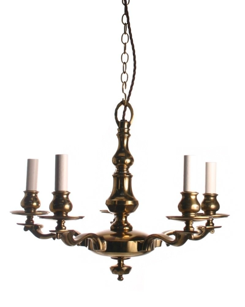 Brassedwardianchandelier Inside Edwardian Chandeliers (#1 of 12)