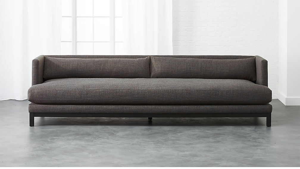Brava Sofa Woven Textural Poly Long Sofa Living Rooms And Room In Long Modern Sofas (#5 of 15)