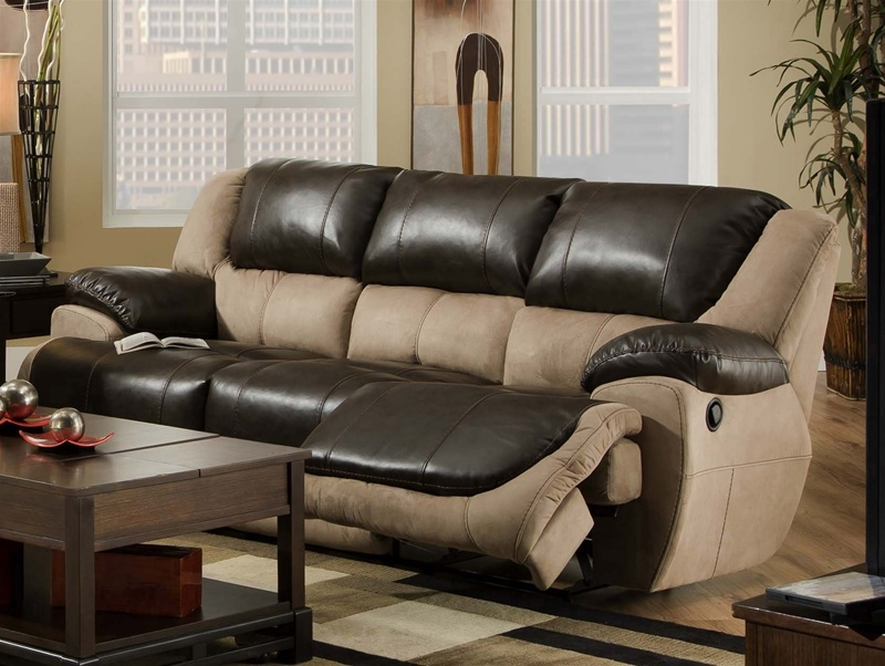 Brighton Reclining Sofa In Two Tone Upholstery Catnapper 4051 Throughout Two Tone Sofas (View 6 of 15)