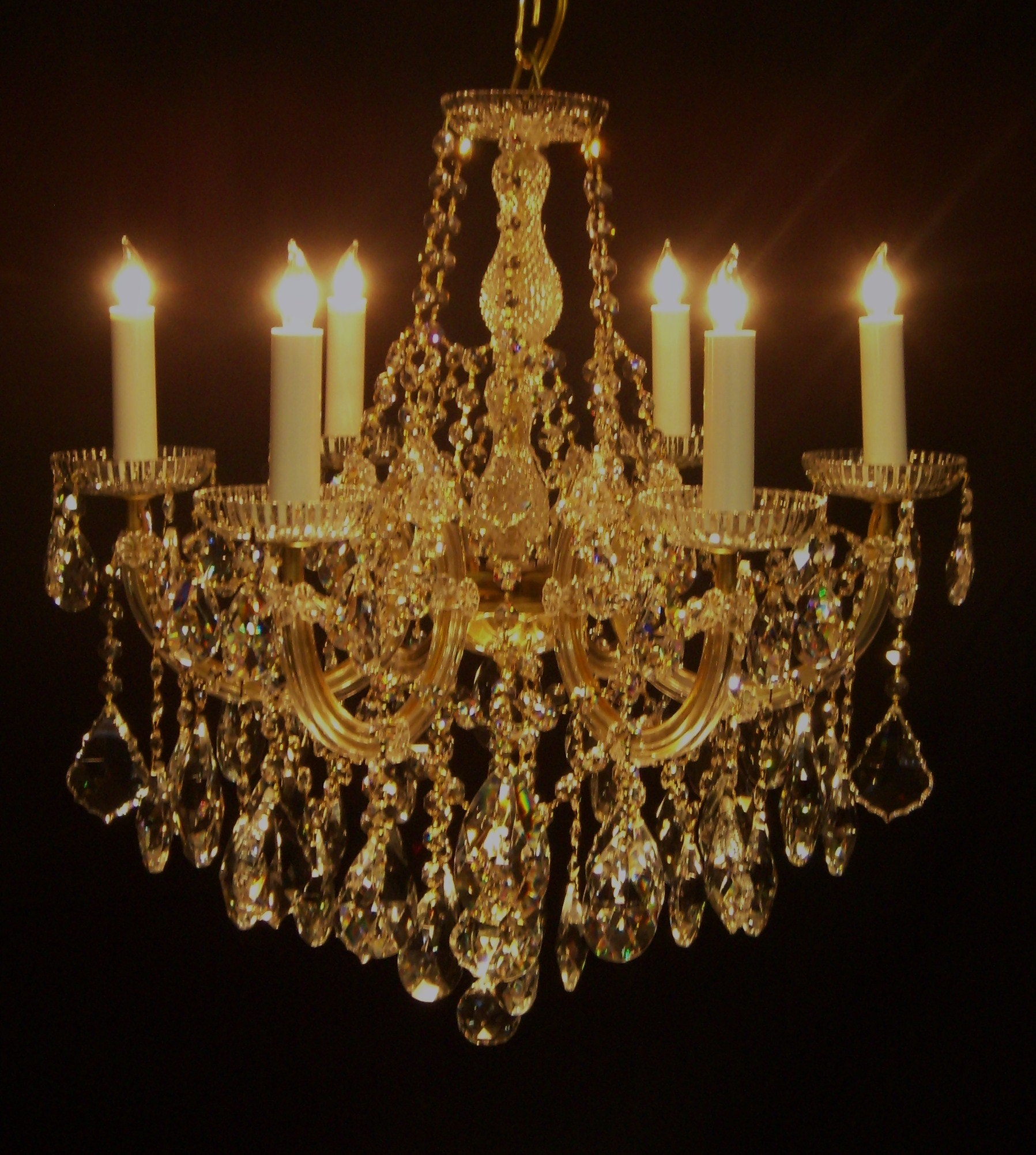 Brilliant Gold Chandelier Light Traditional And Classy Gold With Regard To Crystal Gold Chandelier (#2 of 12)