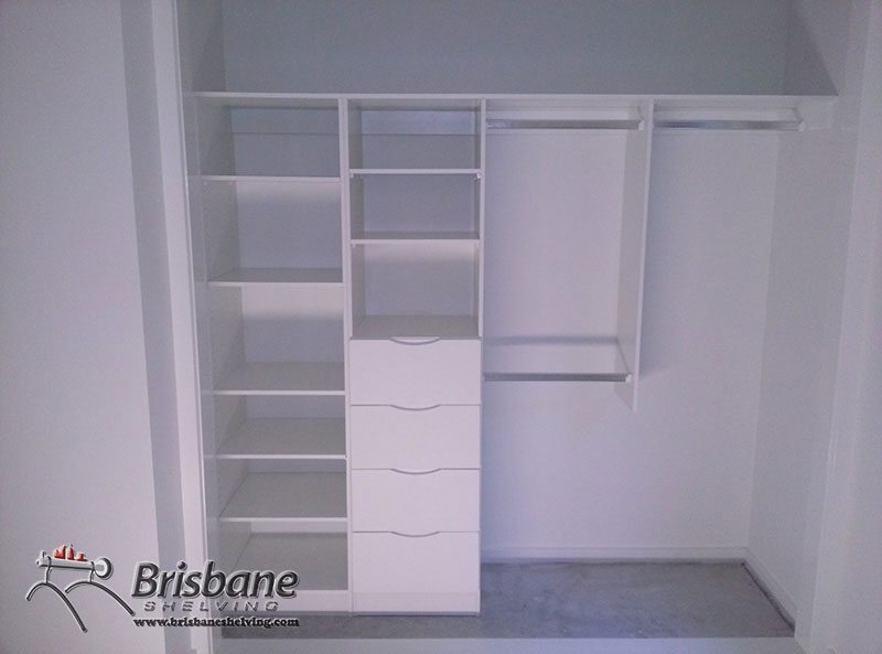 Brisbane Sliding Custom Built Out Walk In Flat Pack White Inside Cupboard Inserts For Wardrobes (#2 of 15)