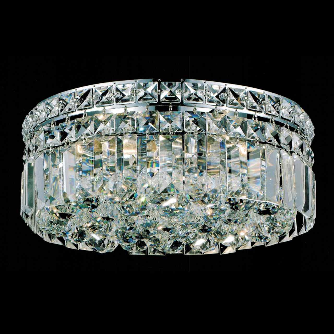 Brizzo Lighting Stores 12 Bossolo Transitional Crystal Round Intended For Flush Chandelier (#3 of 12)