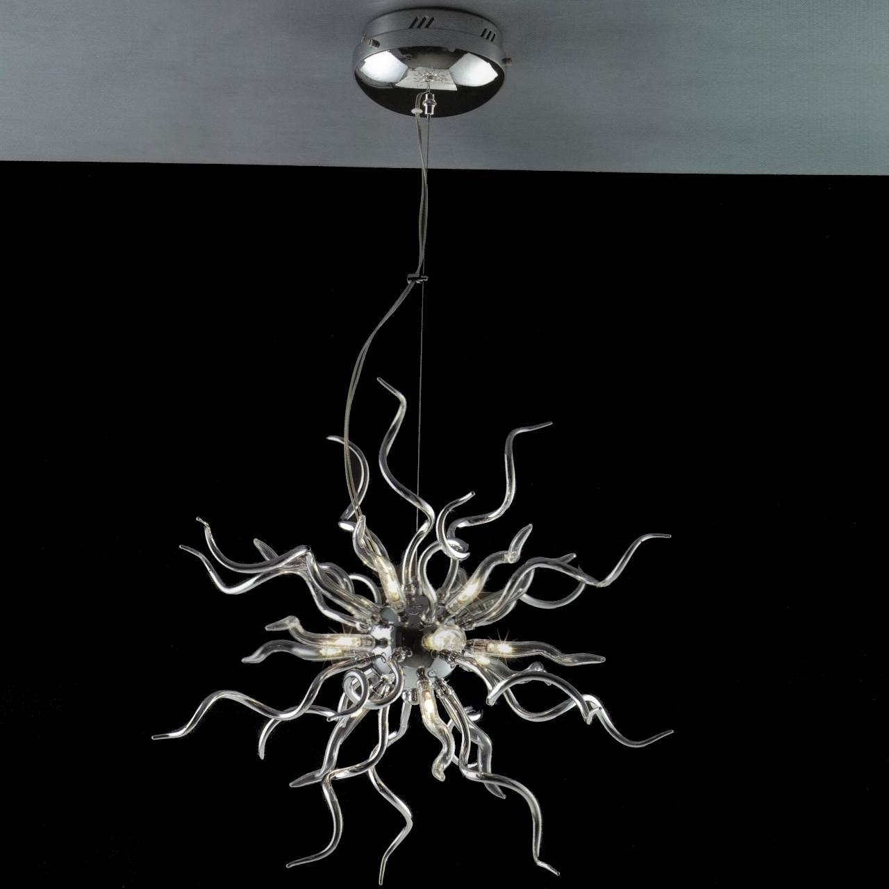 Brizzo Lighting Stores 23 Medusa Modern Round Chandelier With Regard To Chrome And Glass Chandelier (#4 of 12)