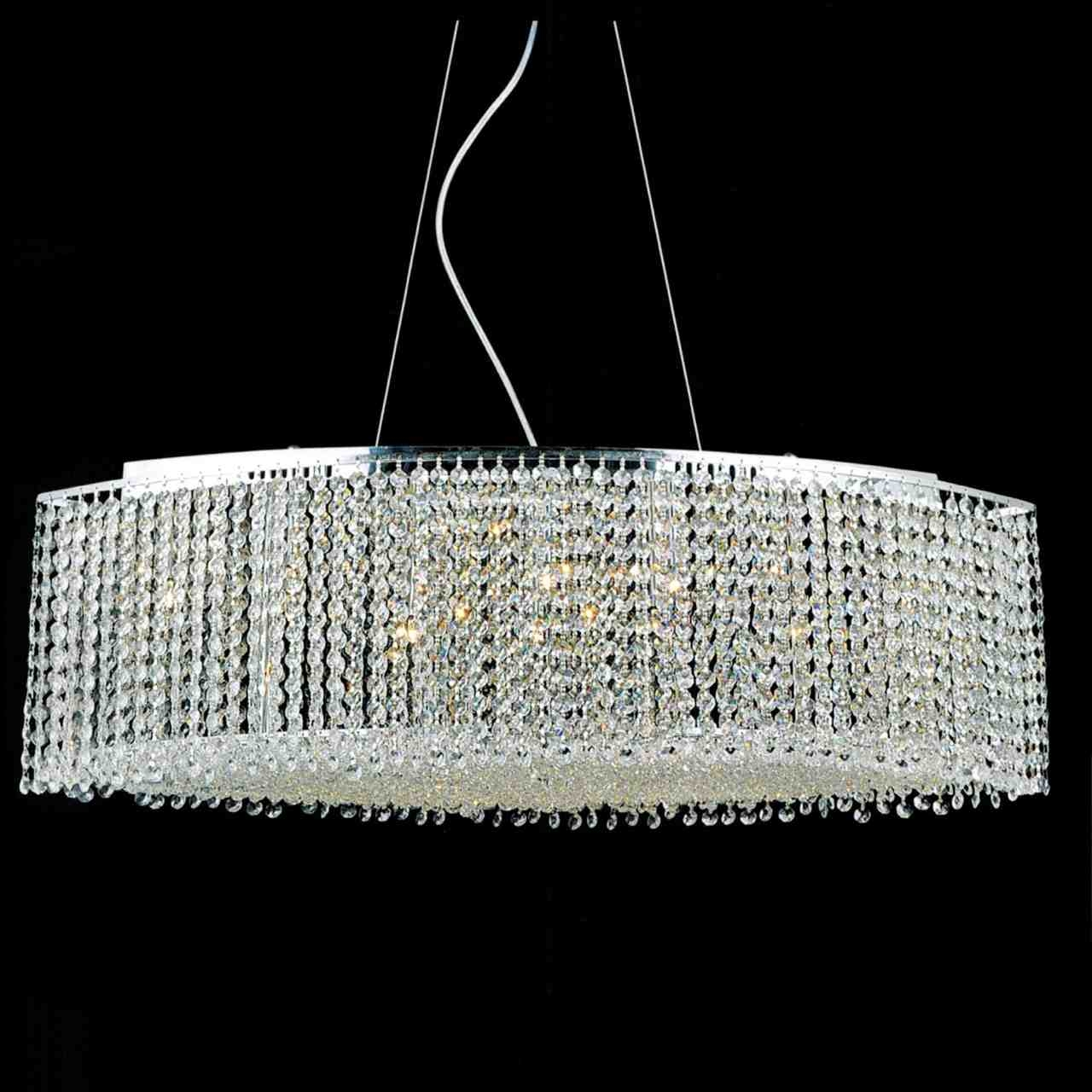 Brizzo Lighting Stores 35 Rainbow Modern Linear Crystal Pertaining To Chrome And Crystal Chandelier (#6 of 12)
