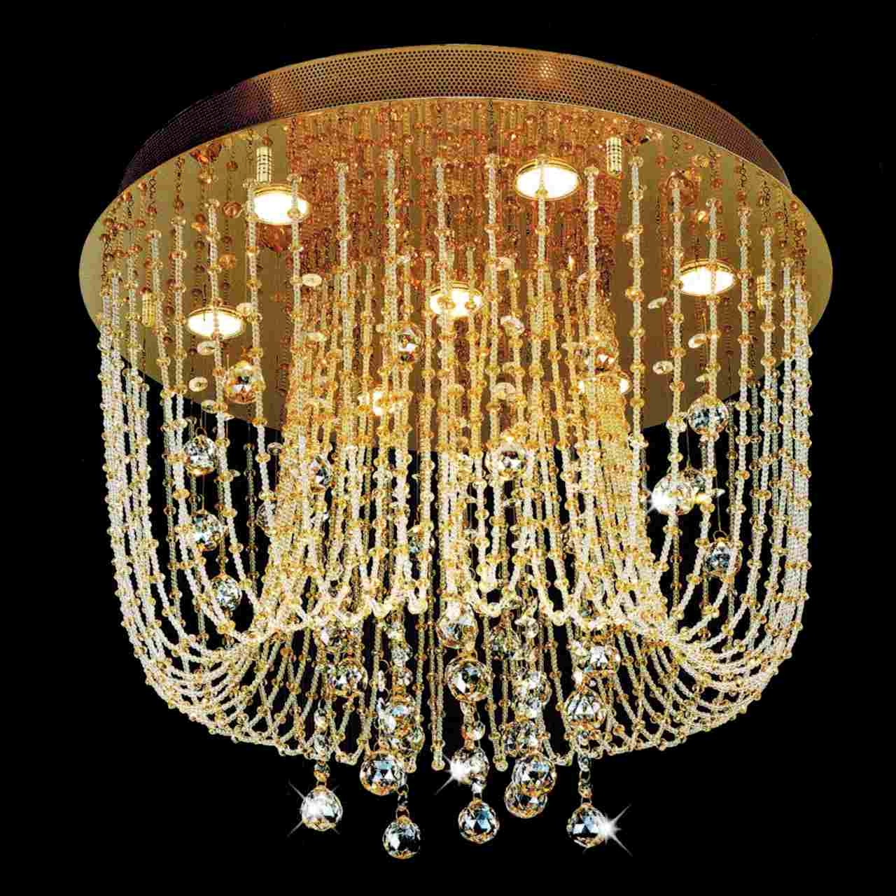 Brizzo Lighting Stores Chandeliers Regarding Crystal Gold Chandelier (#3 of 12)