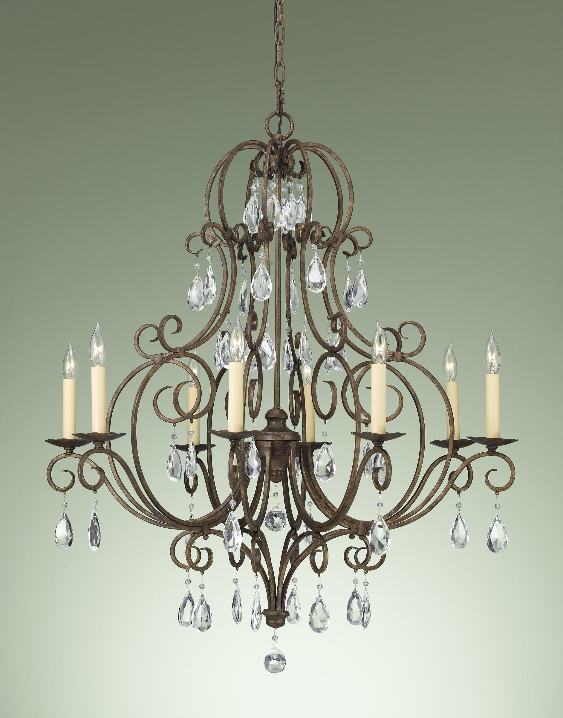 Bronze Crystal Chandelier Whse Of Tiffany Rl8049 Edwards Regarding Bronze And Crystal Chandeliers (#2 of 12)