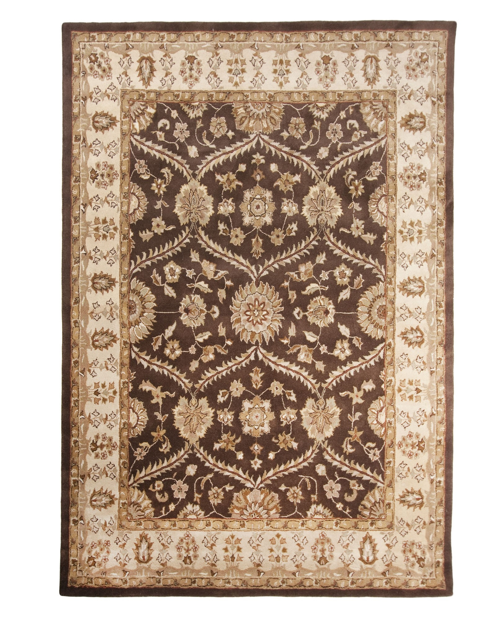 Brown Hand Tufted Traditional Wool Area Rug Carpet 26 X 8 Inside Hand Tufted Wool Area Rugs (#2 of 15)