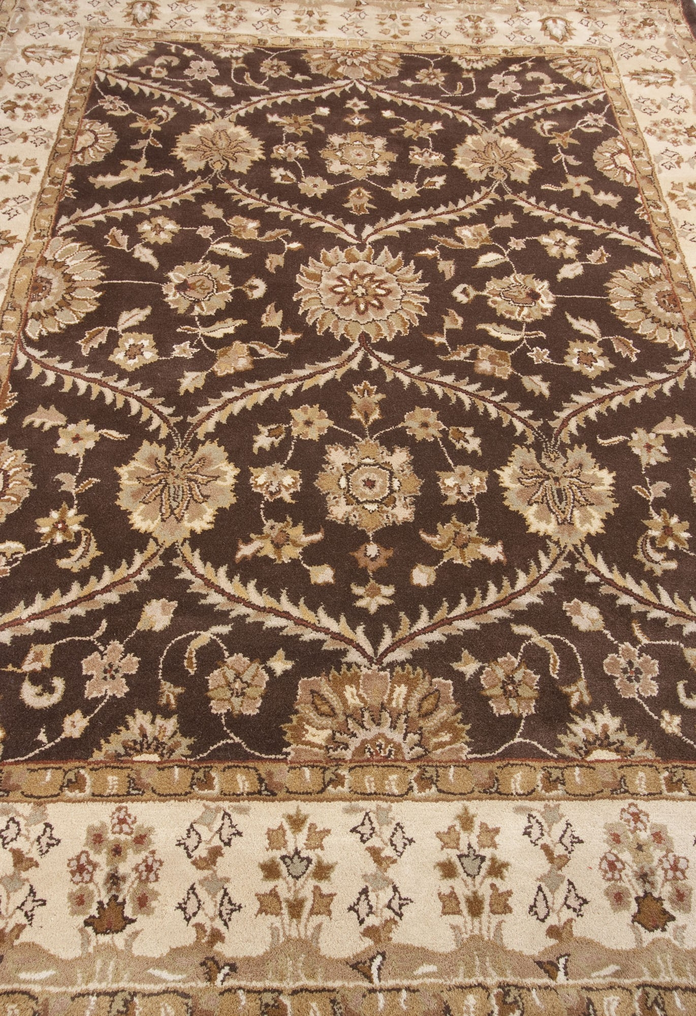 Brown Hand Tufted Traditional Wool Area Rug Carpet 26 X 8 With Hand Tufted Wool Area Rugs (#3 of 15)