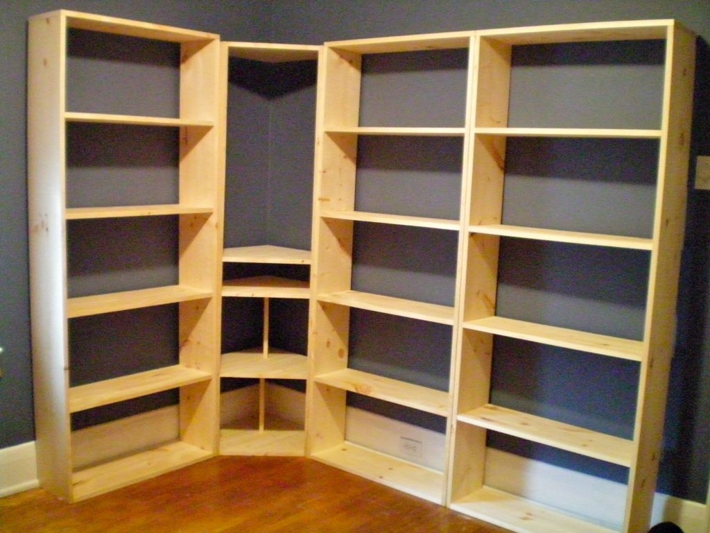 How to build a corner bookcase corner bookshelf plans for Build your own corner bookcase