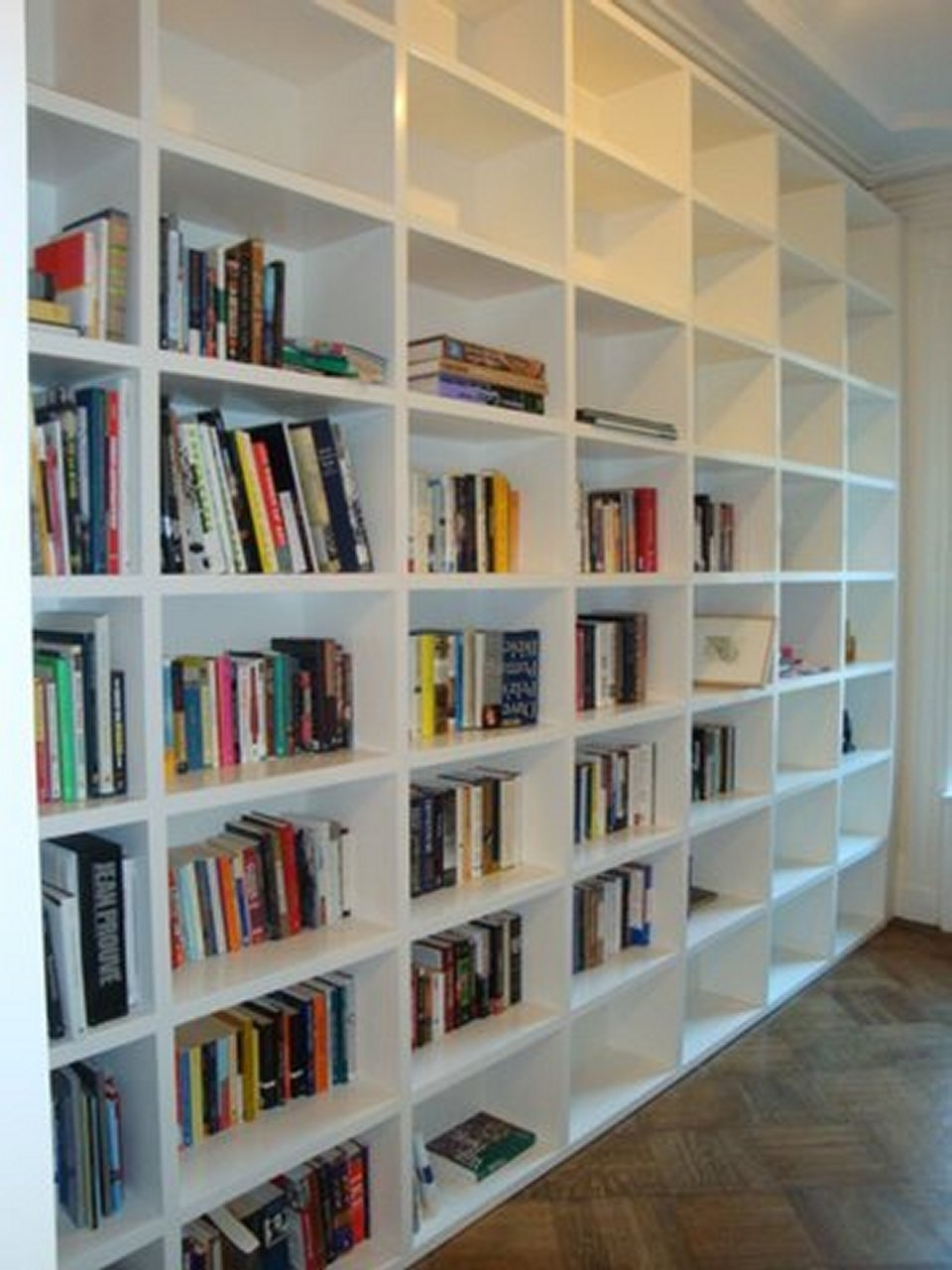 Build A Huge Temporary Wall Room Divider Bookcase Using Sing Pertaining To Build Bookcase Wall (#4 of 15)