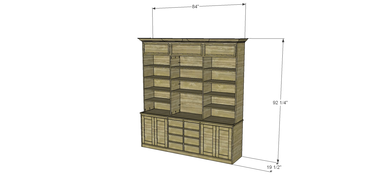 Build A Stately Bookcase Designs Studio C Within Large Bookcase Plans (View 6 of 15)